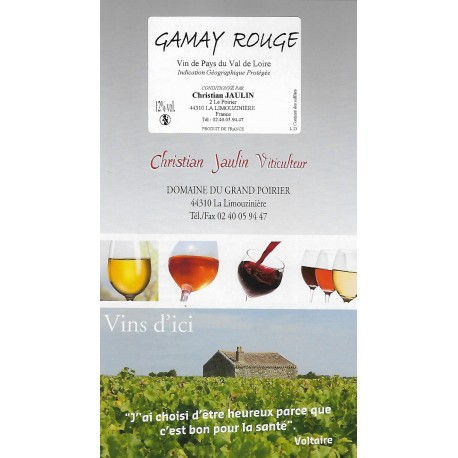 Gamay rouge - Bag in box