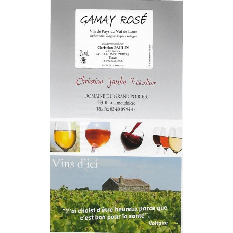 Gamay rosé - Bag in box